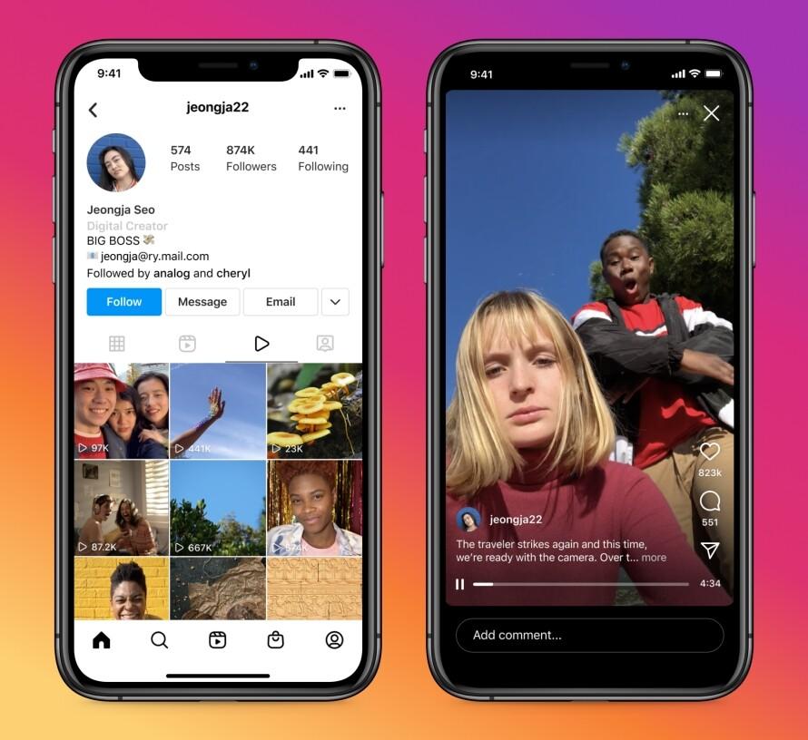 novedades Instagram 2022, nueva interfaz de instagram sin IGTV